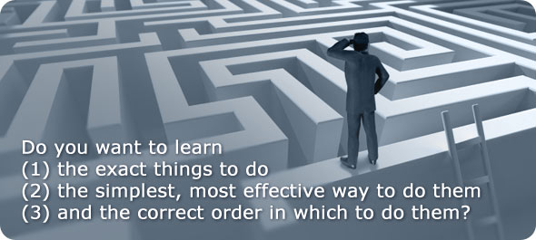 Do you want to learn the exact things to do the simplest, most effective way to do them and the correct order in which to do them?