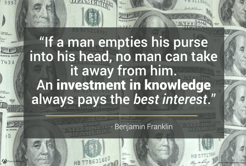 Benjamin Franklin quote on financial education