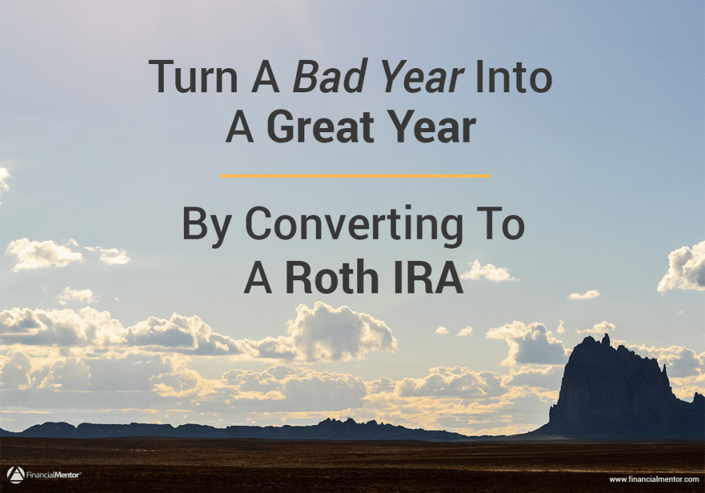 If your income is down or your retirement accounts are at a loss this year, you may be overlooking a potential benefit hiding behind all that pain. Consider converting your regular IRA's, SEP-IRA's, etc. into a Roth IRA this year. Here's how it can benefit you...