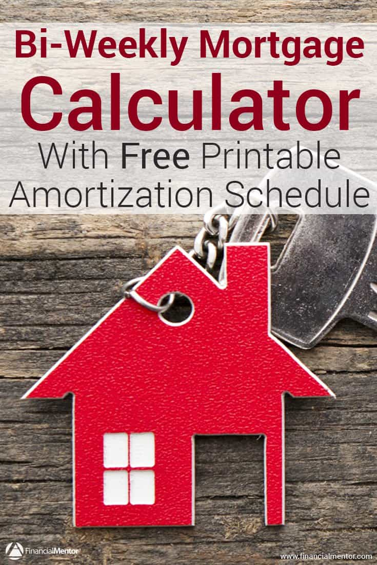 Paying your mortgage off on a bi-weekly schedule can help you become debt free faster. See what a difference an extra payment makes with this calculator, and print out a free amortization schedule so you can keep track of your progress.