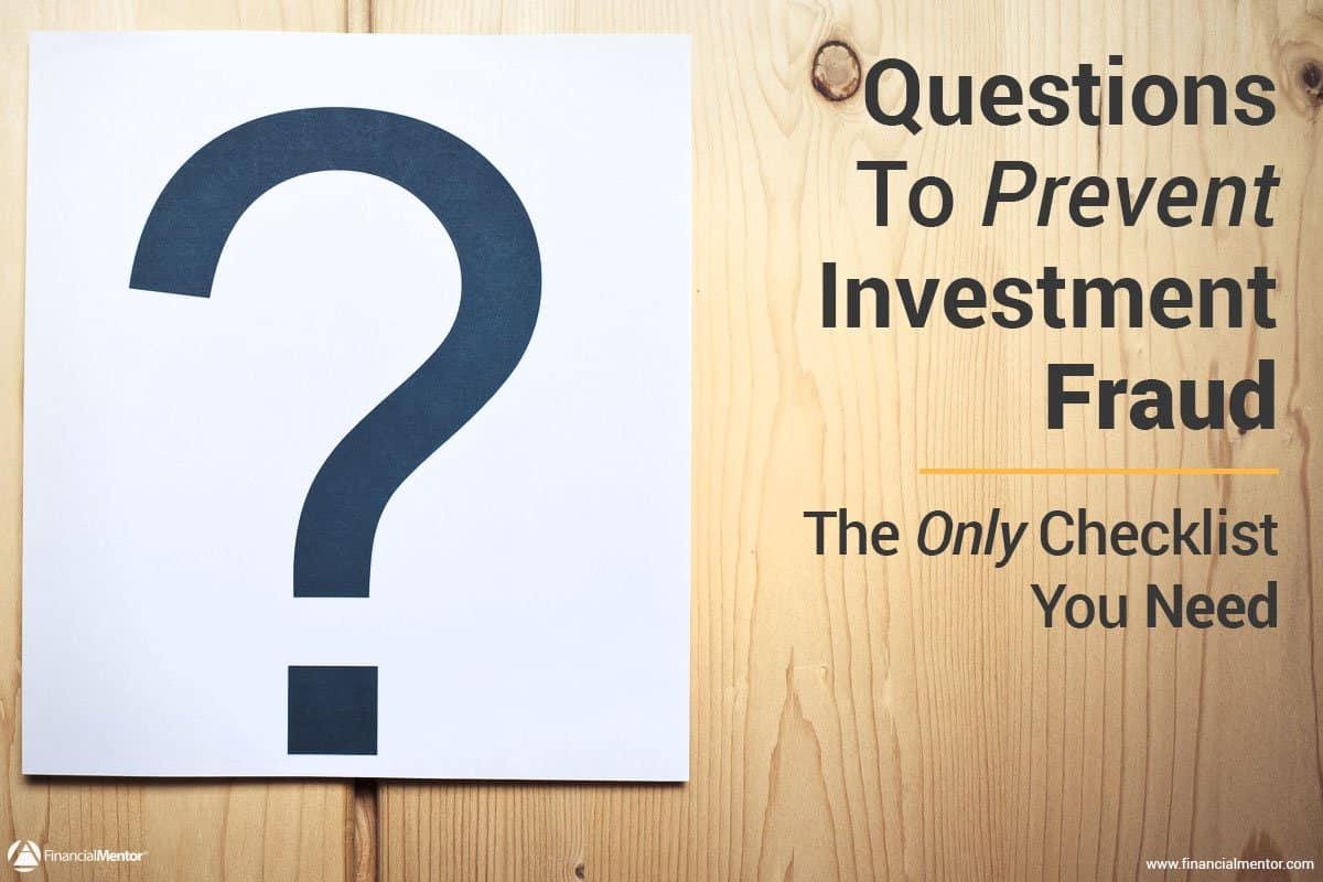 due diligence checklist to prevent investment fraud