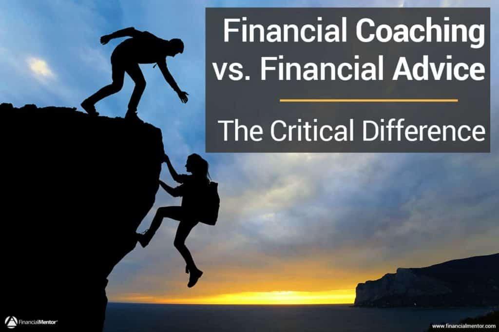 Financial coaching vs financial advice image
