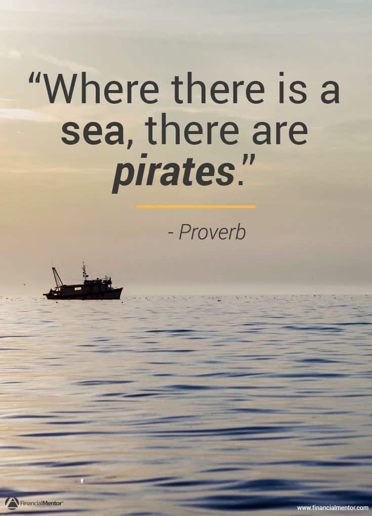 Wall Street takes your money legally - where there's a sea, there are pirates image