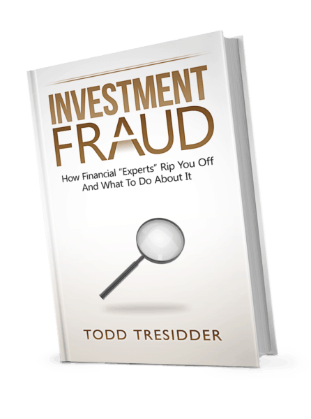 Tilted book cover for Investment fraud - how financial experts rip you off and what to do about it