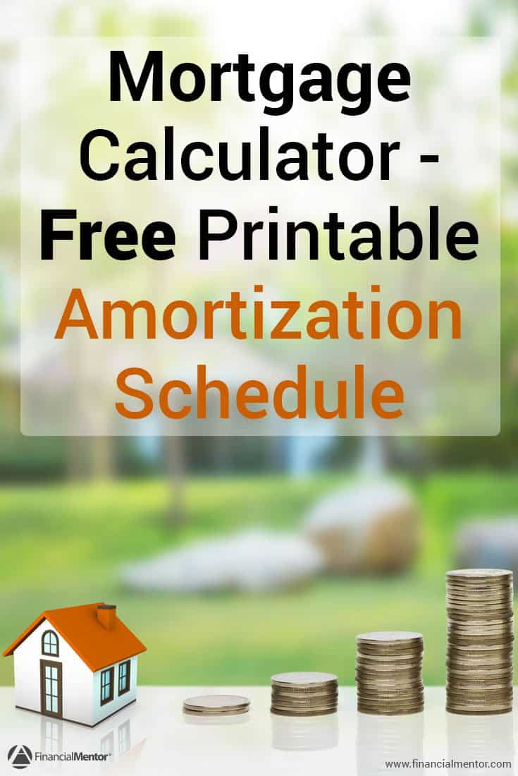 In the middle of paying off your mortgage, or want to see an amortization schedule for your mortgage payoff date? This free calculator will give you the numbers and a printable amortization spreadsheet so you can see the numbers.