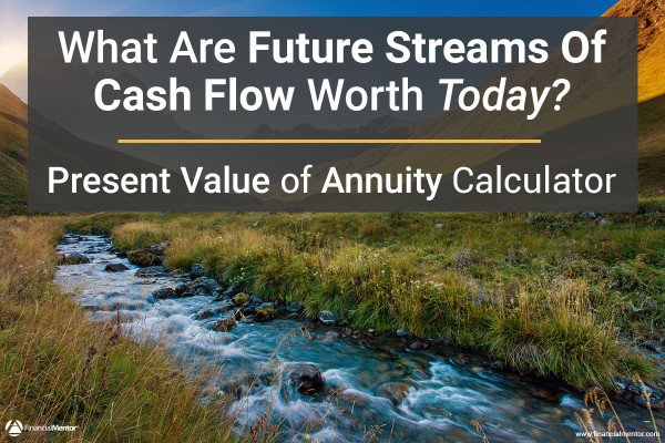 What are future streams of cash flow worth today? Calculate the present value of annuity with this calculator.
