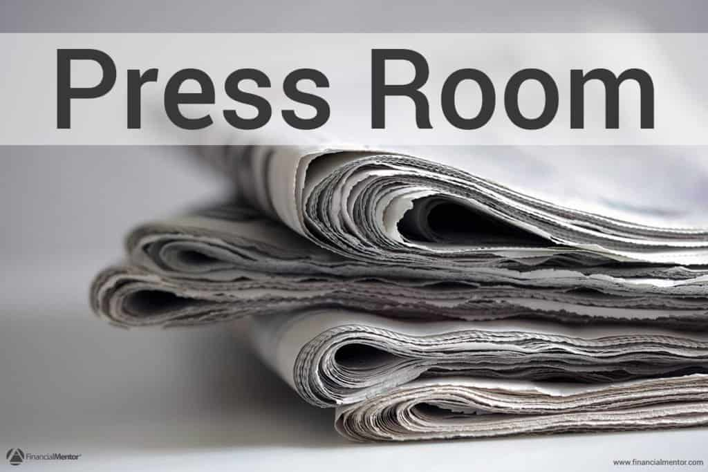 Press Room for Financial Mentor. Includes media photographs, list of published articles, list of media mentions, interviews, interview questions, and more..