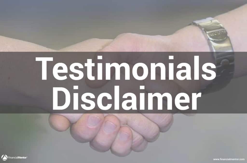 Testimonials Disclaimer for FinancialMentor.com