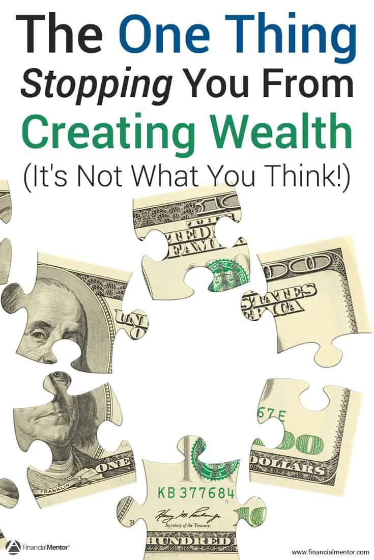 Reveals an easy to understand but hard to live idea that stops you from financial success and creating wealth. Solve this problem to improve your finances.