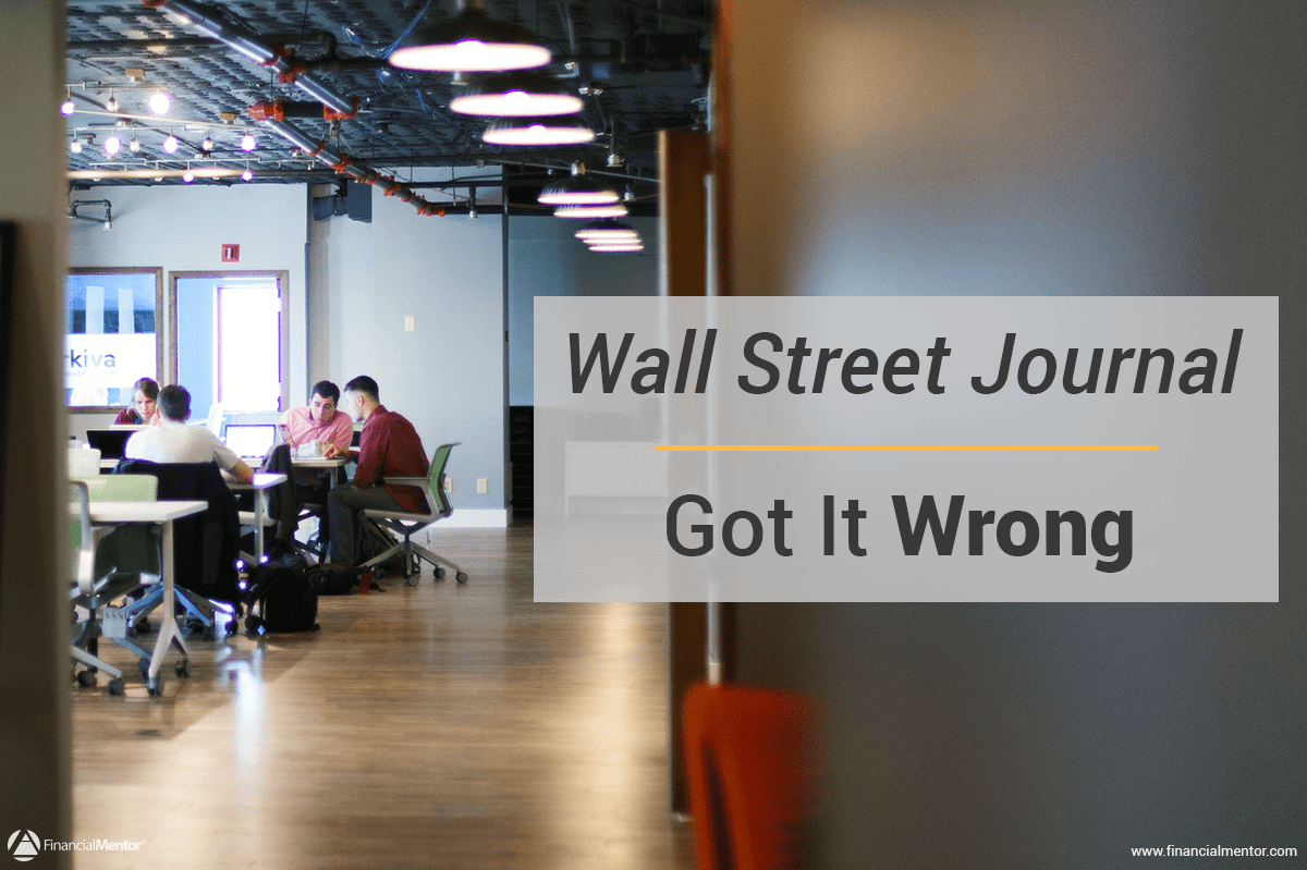 wall street journal got it wrong