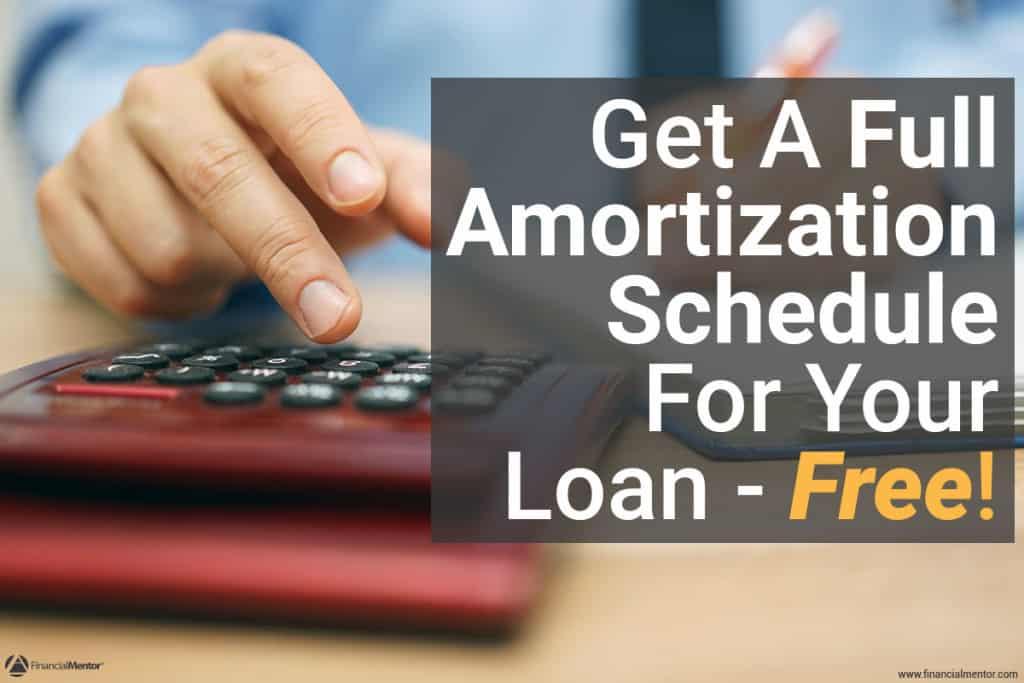 amortization schedule calculator image