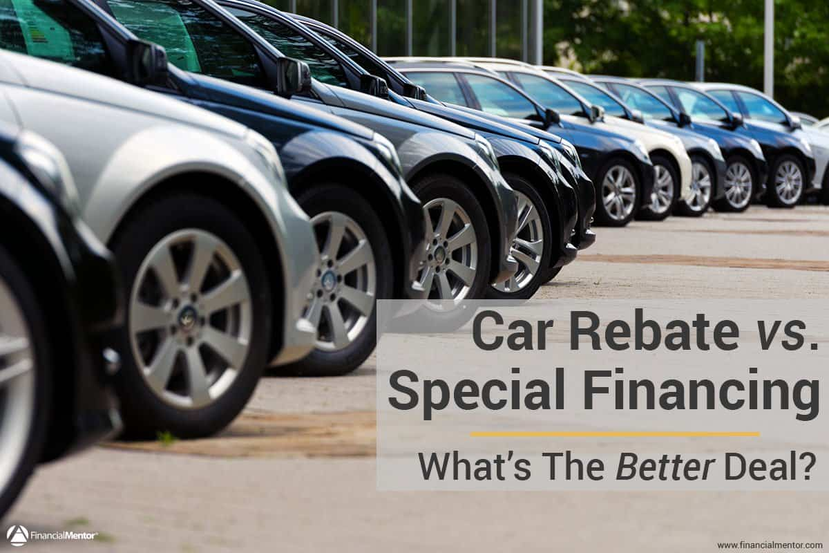 car rebate vs  financing comparison calculator