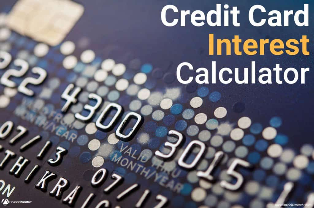 credit card interest calculator image