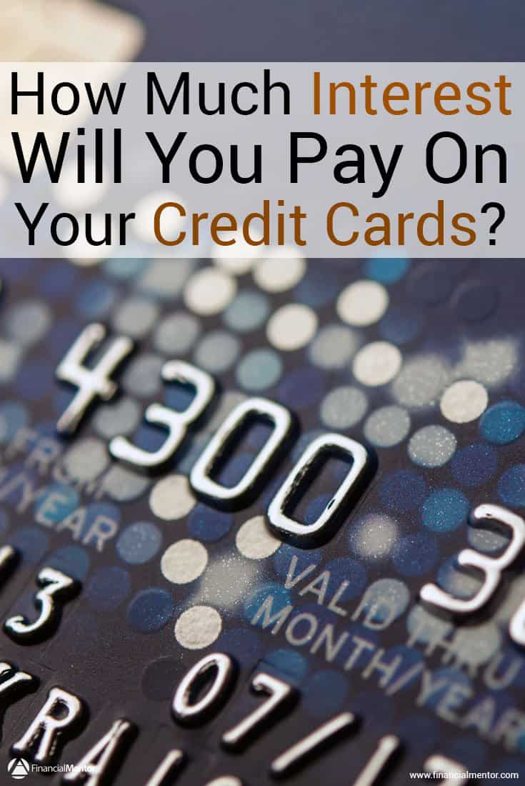 Do you know how much of your credit card payments go toward interest? You might be surprised to discover a lot more money than you think is used for interest rather than principal. Use this calculator to get the numbers.