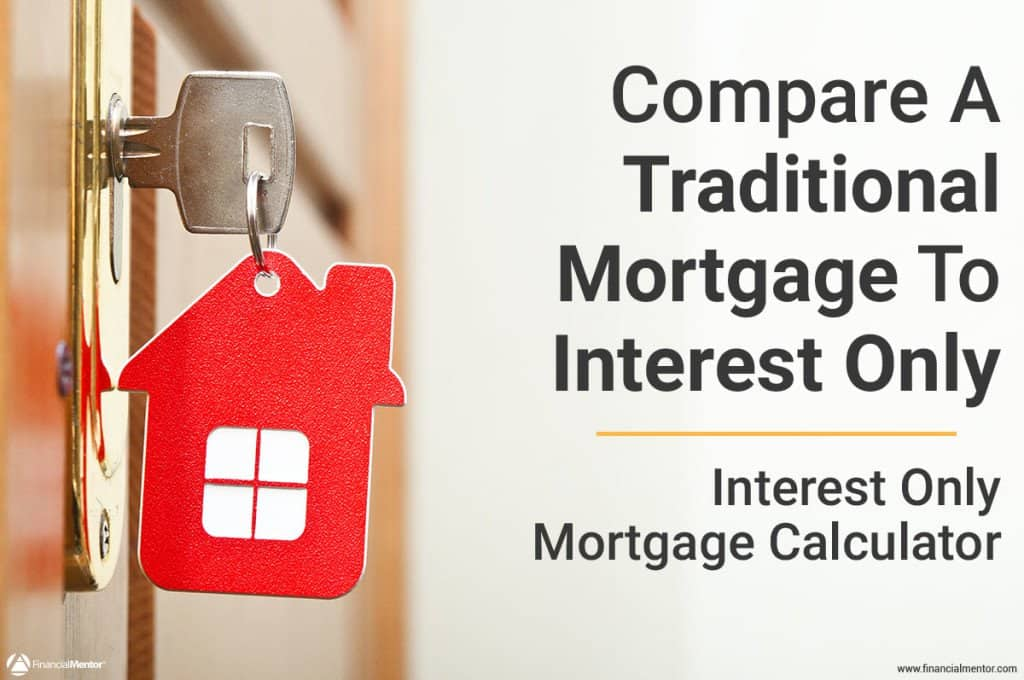 Compare a traditional mortgage to an interest-only mortgage with this mortgage calculator.