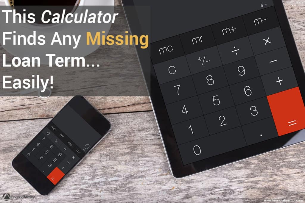 This interest rate calculator solves for a missing loan term.