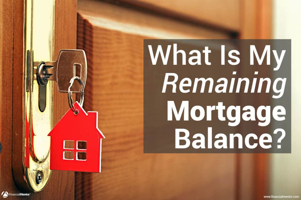 Mortgage balance calculator.