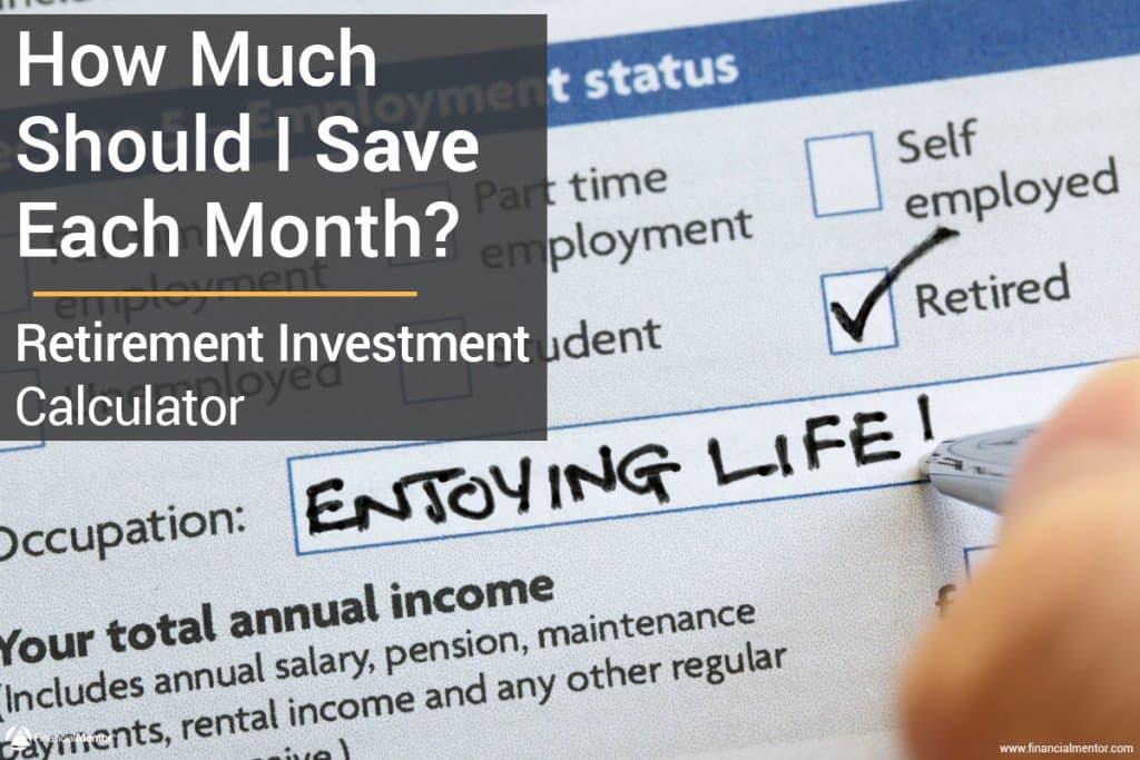 retirement investment calculator image