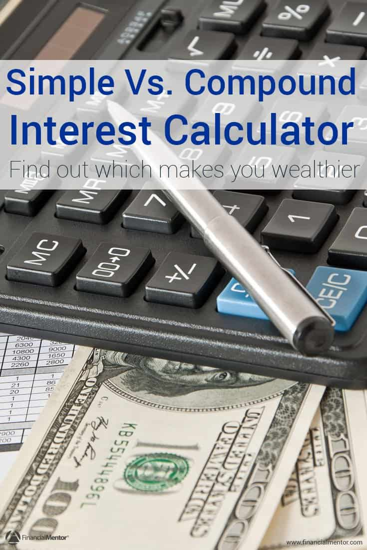 The effect of simple interest or compound interest can make a huge difference in how you build wealth. Use this calculator to see it for yourself, and to find out why compound interest is better than simple interest.